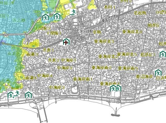 相模川洪水ハザードマップ
