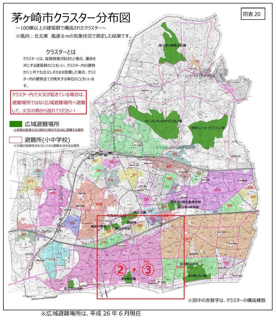茅ヶ崎市クラスター分布図